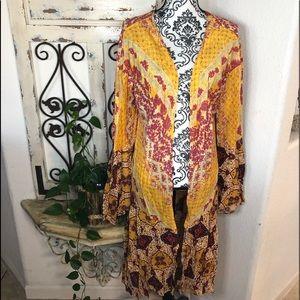 Umgee multicolor boho Nell sleeve kimono